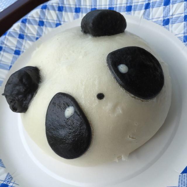 cafe HIBIKI - パンダ肉まん(300円)2015年10月