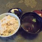 大和屋本店 - 松茸ご飯と赤だし汁
