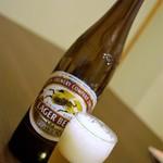 川豊西口館 - 瓶ビール=予約のコースは瓶のみ