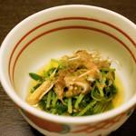 川豊西口館 - 水菜のお浸し(コース①)