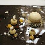 リストランテ カシーナ カナミッラ - マロングラッセのジェラートと焙じ茶