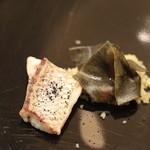 Ristorante Cascina Canamilla - 青海苔のラヴィオリと真鯛