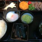 MMCオーガニックカフェ - ★★★ みちのく名産定食 牛タン・笹かまぼこ・ずんだ餅