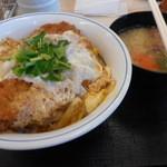 43349535 - かつ丼(梅)と豚汁(小)