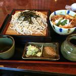 和食処 まるきち - 料理写真:奥利根もち豚ロースかつ丼(小)セット 1200円(税抜)