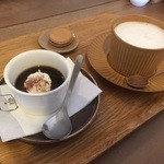 ラポカフェ - コーヒーゼリーとカフェオレ
