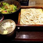 さ竹 - 朝セット(そば、サラダ)