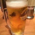 ラーメンたろう - 生ビール