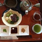 43353564 - 大分県産とうふ白玉と抹茶わらび餅