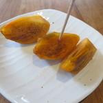 藤香想 - サービスに庭でとれた柿も頂きました。
