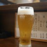 居酒屋割烹 木春 - まずはビール