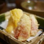居酒屋割烹 木春 - イチジクの天ぷら