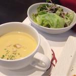 43356695 - スープ&サラダ〜( ^ω.^ )v