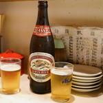 あづま - 2015.10 ビール(550円)キリンクラシックラガー中瓶