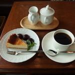 丁の字 CAFE - お取り寄せスイーツカフェセット(1300円)