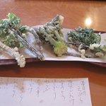 ほし - 山菜天ぷら(単品)。