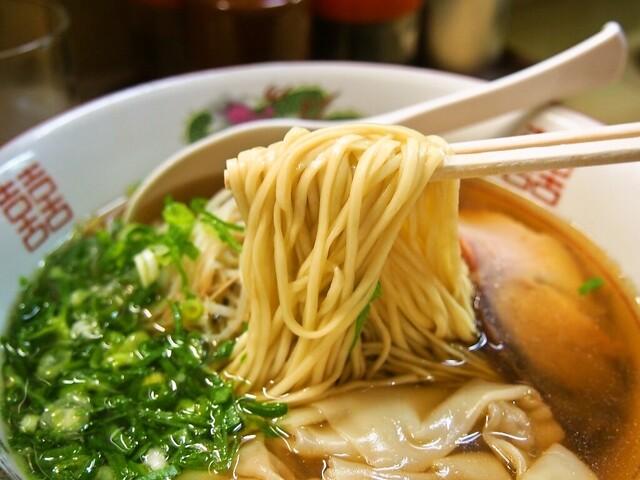 淡水軒 - ワンタン麺(麺)