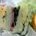 食堂カフェ COCO家 - モーニングのサンドイッチ  中のハムも美味しいです。(*^O^*)