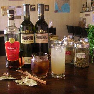 インドワインやオリジナルスパイスカクテルが人気!