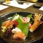 魚楽唐唐 - お造りの盛り合わせ