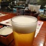 酉や 喜兵衛 - まずは生ビール490円