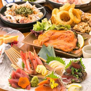 旬の厳選食材を使った豪華な逸品料理の数々