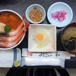 函館朝市 栄屋 よさこい食堂 - 三種丼