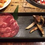 牛角 - 松茸の牛タン巻き(980円)