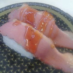 はま寿司 - 炙り合鴨ガーリックソース