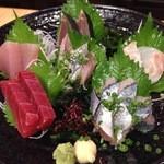 旬鮮屋 漁 - 刺身5点盛り(6点?)