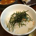 麺座 かたぶつ - トック雑炊(つけ汁をかけていただきます)