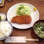 あき山 - とんかつ定食(1,000円)
