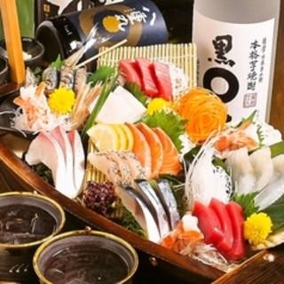 新鮮な海鮮料理に舌鼓。3時間飲み放題付コース3,000円~
