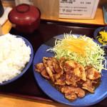 トンキコーヒー - 料理写真:豚ロースしょうが焼き定食(ご飯大)♩