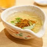 俺の魚を食ってみろ!! - 2015.10 お通しのすりながし(400円×3)