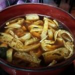 麺処 たかしな - きのこ汁うどんのつけ汁