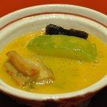 おばな - 炊合せ:冬瓜 鰻 南瓜餡 擂り柚子