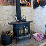 マイカフェ - 暖炉があります