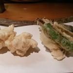 43421722 - 白子と野菜天ぷら