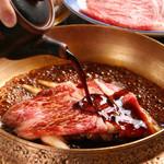 牛屋 江戸八 - 料理写真:黒毛和牛すきやき