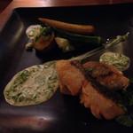 FIGARO - 秋鮭のポワレ・青のりクリームソース