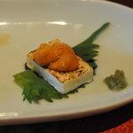Tsuji家 - 生うにをのせた自家製フレッシュチーズの炙り