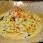 Tsuji家 - ベビーオマール海老とサーモンのクリームソース