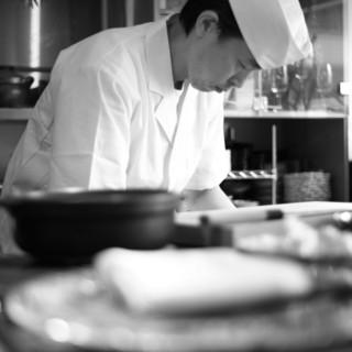 数々の名店で修行を重ねた江口料理長が贈る美しく優しい割烹料理