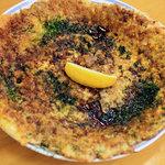 竹の子 - 料理写真:肉入りフライ。これにもレモンが。2010年6月撮影。