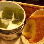 喫茶去 - 抹茶ゼリー、シフォンケーキ
