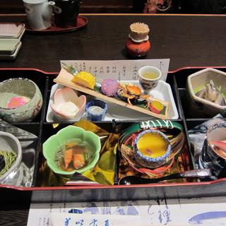 日本料理てら岡 - 料理写真:初夏の水無月小皿御膳:1800円