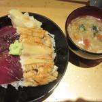 鮨 からく - づけ穴子丼@1500円(税込み)