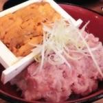 43468157 - ~伊豆高原ビール うまいもん処~                       雲丹ねぎとろ丼                       まさかの箱ウニ!