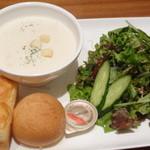 マルゼンカフェ 日本橋店 - スープパンセット